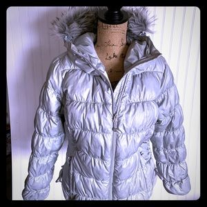 Eddie Bauer Gray Puff Jacket